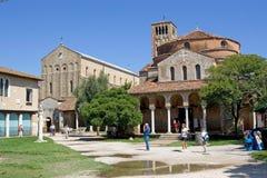 Santa María Assunta e iglesia de Santa Fosca Fotografía de archivo