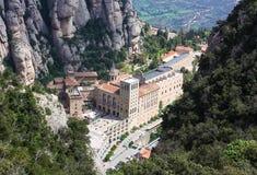 Abadía Santa María de Montserrat, Cataluña, España. Fotos de archivo libres de regalías
