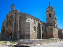 Santa María del Manzano Castrojeriz, Spanien Royaltyfri Foto