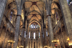 Santa María Del Mar, Barcelona Imágenes de archivo libres de regalías