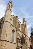 Santa María del Mar. It is a Catalan Gothic church built between 1329 and 1383 royalty free stock image