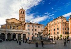 Santa María en Trastevere imagen de archivo