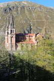 Santa María la Real de Covadonga, Cangas de Onís, Spain. Basílica de Santa María la Real de Covadonga is church located in Covadonga, Cangas de Onís Royalty Free Stock Image