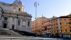 Santa María Maggiore en Roma almacen de metraje de vídeo