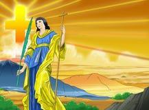 Santa Margaretha chrześcijanina kalendarza pomysłu strona ilustracja wektor