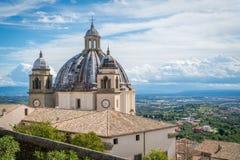 Santa Margherita Basilica in Montefiascone, province of Viterbo, Lazio, central Italy. Capodimonte is a comune in the Province of Viterbo in the Italian region stock photo