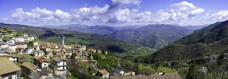Santa Margherita Di Staffora, κοιλάδα Oltrepo Εικόνα χρώματος Στοκ φωτογραφίες με δικαίωμα ελεύθερης χρήσης