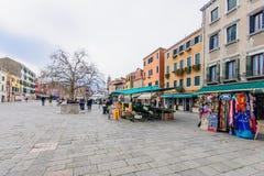 Santa Margherita fyrkant, Venedig Royaltyfri Fotografi