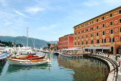 Santa Margherita-Hafen Stockfotos
