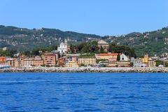 Santa Margherita Ligure dal mare immagine stock libera da diritti