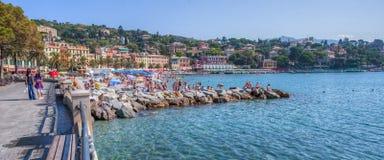 Santa Margherita Ligure, Italie - avant de plage Image stock