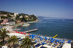 Santa Margherita Ligure, Italiener Reviera stockfotos