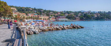 Santa Margherita Ligure, Italy - Beach Front. Santa Margherita Ligure, Italy, Seaside view and park of Santa Margherita Ligure, Italy. Santa Margherita is a Stock Image