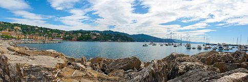 Santa Margherita Ligure, Liguria, Italy: Bay and port royalty free stock image