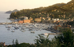 Santa Margherita Ligure at sunset Royalty Free Stock Photography