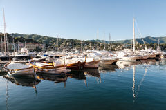 Santa Margherita marina i Ligure, Italien Arkivbilder