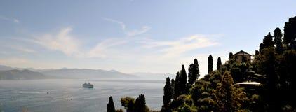 Santa Marguerita Ligure morza widok obrazy royalty free