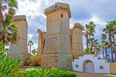 Santa Maria al Bagno, Apulia, Italië stock afbeelding