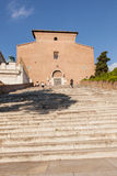 Santa Maria in Aracoeli. Basilica with the monumental staircase Royalty Free Stock Photo