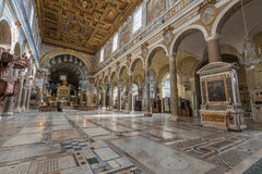Santa Maria in Aracoeli. Basilica of Saint Mary of the altar of Heaven, Rome, Italy Royalty Free Stock Photos