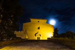 Santa Maria in Aracoeli at full moon Royalty Free Stock Image