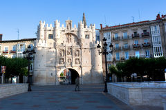 Santa Maria Arch in Burgos, Spain Royalty Free Stock Images