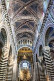 Santa Maria Assunta Cathedral interiors in Siena Royalty Free Stock Photography