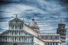 Santa Maria Assunta cathedral and leaning tower in Pisa Royalty Free Stock Images