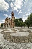 Santa Maria Assunta church in Cislago (Lombardy, Italy). Cislago (Varese, Lombardy, Italy): church of Santa Maria Assunta and the square stock images