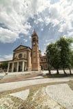 Santa Maria Assunta church in Cislago Lombardy, Italy. Cislago Varese, Lombardy, Italy: church of Santa Maria Assunta and the square stock image