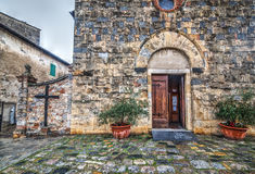 Santa Maria Assunta church in Monteriggioni Royalty Free Stock Photos