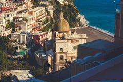 Santa Maria Assunta-kerk in Positano, Italië royalty-vrije stock foto's