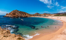 Santa Maria beach , Mexican Baja. Beautiful Santa Maria beach by Cabo San Lucus has full life guarding and bathroom facilities. It is a sheltered beach that Stock Image
