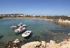 Santa Maria beach in Paros island stock photos