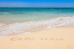 Santa Maria beach in Sal Cape Verde - Cabo Verde Stock Photos