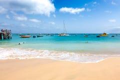 Santa Maria beach in Sal Island Cape Verde - Cabo Verde Stock Image