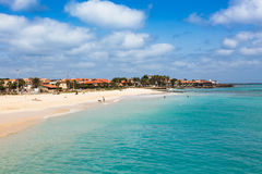 Santa Maria beach in Sal Island Cape Verde - Cabo Verde Royalty Free Stock Images