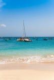 Santa Maria beach in Sal Island Cape Verde - Cabo Verde Royalty Free Stock Photos
