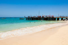 Santa Maria beach in Sal Island Cape Verde - Cabo Verde Royalty Free Stock Photo