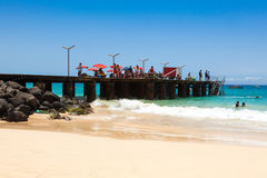 Santa Maria beach in Sal Island Cape Verde - Cabo Verde Stock Photography