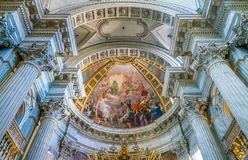 Church of Santa Maria in Portico in Campitelli in Rome, Italy. Santa Maria in Campitelli or Santa Maria in Portico is a church dedicated to the Virgin Mary on royalty free stock images