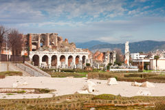 Santa Maria Capua Vetere Amphitheater. In Capua city, Italy in december 2009 Stock Images