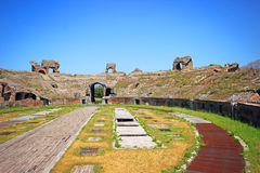 Santa Maria Capua Vetere Amphitheater in Capua city Royalty Free Stock Photos
