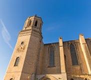 Santa Maria cathedral. Gerona, Costa Brava, Catalonia, Spain. Stock Photo