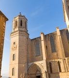 Santa Maria cathedral. Gerona, Costa Brava, Catalonia, Spain. Royalty Free Stock Photography