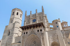 Santa Maria Cathedral at Huesca, Spain Stock Images