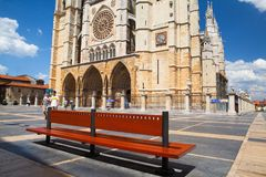 The Santa Maria Cathedral,Leon,Spain Stock Photos