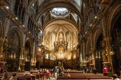 Santa Maria Chapel på Montserrat Arkivfoton