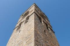 Santa Maria Church at Ainsa at Aragon, Spain Stock Photo