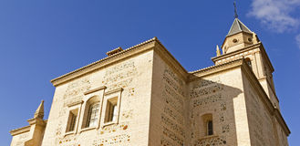 Santa Maria church, Alhambra, Granada, Spain Royalty Free Stock Images